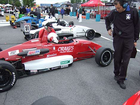 Craig Clawson gridded 8th at the Pro F2000 Championship Series race, Watkins Glen 2011.